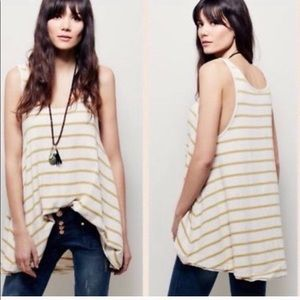 Free people yellow and blue striped tunic